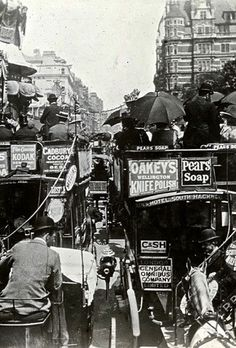 Old east London traffic jam