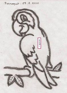 Cartons modèles dentelle aux fuseaux (dentelle du puy)                                                                                                                                                                                 Plus Lace Heart, Lace Jewelry, Lace Making, Bobbin Lace, Lace Detail, Crochet, Creations, Butterfly, How To Make