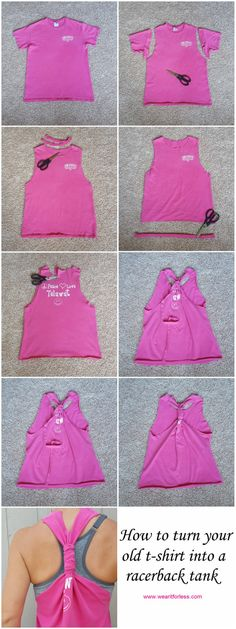 Wear It For Less: DIY: Make Your Own Racerback Tank