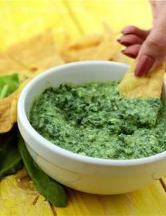 Here is an interesting variation of the staid spinach dip, which tastes great with pita chips.   The infusion of tofu into this creamy-textured dip makes it a light and a healthy option.