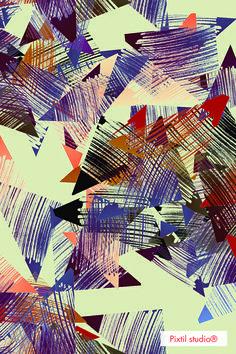 Pixtil studio® pattern triangle smart #scarf design textile creative coding www.pixtil-studio.fr