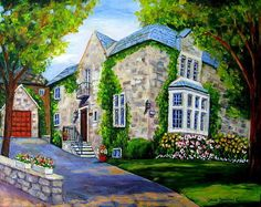 Beautiful Westmount Home Art Print by Carole Spandau. All prints are professionally printed, packaged, and shipped within 3 - 4 business days. Landscape Paintings, Watercolor Paintings, Thing 1, Art Case, Painting Inspiration, High Quality Images, All Art, Home Art, Fine Art America