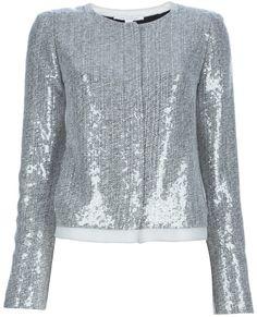 Diane von Furstenberg 'Tamali' sequin jacket on shopstyle.com
