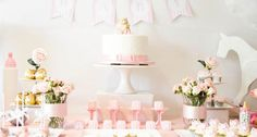 Pink + Glitter Gold Baby Shower