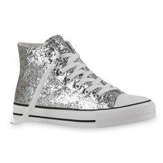 20 Damen Sneakers High Freizeit Glitzer Turnschuh Sportliche Schuhe: Amazon.de: Schuhe & Handtaschen