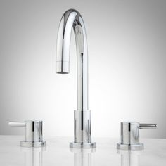 Rotunda Widespread Bathroom Faucet - Lever Handles  from Signature Hardware. Available in multiple finishes. Starting at $152.95