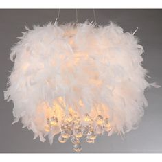 Adorable feather and crystal pendant that would be perfect for a little girls room. Not so sure on how practical feathers are to keep clean though. Great price point at 108.99
