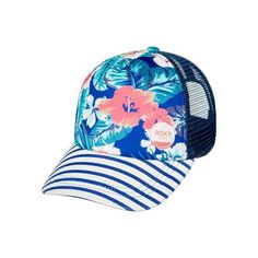 Roxy Girls Just Ok Trucker Hat - Royal Blue Girl With Hat 08457fc518b9