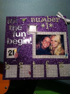 Shot Book Page- but not the colors...but yes to glitter!