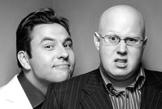 David Walliams and Matt Lucas, who paired together in Little Britain and Come Fly with Me. Little Britain is hilarious!