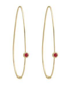 Ruby | Gold Hoop Earrings | COVET | @Megan Lagos Jewelry