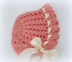 I made this bonnet following a vintage pattern from Crochet for Your Baby and Knit Too! Star Baby Book 130 by American Thread ...