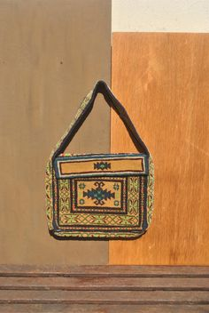 Vintage Persian Rug Bag. Rare Handmade Shoulder Bag or Satchel, Made of Traditional Asian Carpet. by GoldenGully on Etsy