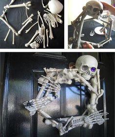 DIY Halloween Wreaths - Outdoor Halloween Decorations