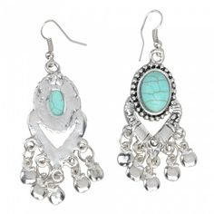 Turquoise With Pendant Earrings | favwish - Jewelry on ArtFire