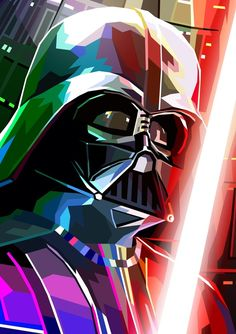Darth Vader - A gallery-quality illustration art print by Liam Brazier for sale.