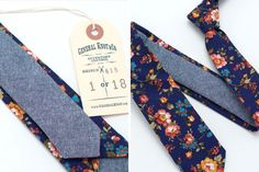 Vintage Navy English Rose Skinny | 20 Fresh Floral Accessories