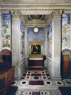 Benozzo Gozzoli - Cappella dei Magi, parete con altare - affresco - 1459-1461 - Palazzo Medici Riccardi Firenze
