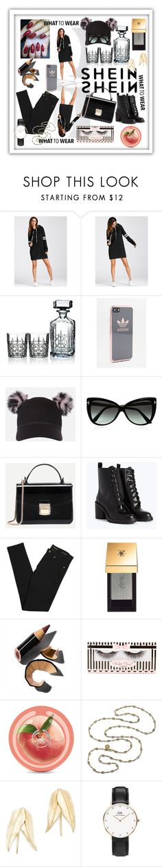 """""""what to wear"""" by anelia-georgieva ❤ liked on Polyvore featuring Marquis by Waterford, adidas, Charlotte Simone, Tom Ford, Yves Saint Laurent, Bobbi Brown Cosmetics, Violet Voss, Elizabeth and James and Daniel Wellington"""