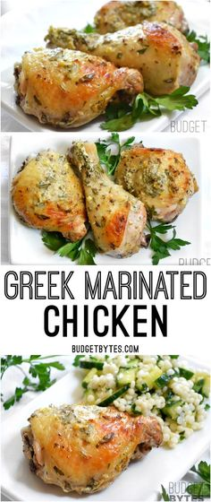 Greek Marinated Chicken. The marinade takes just a few minutes to stir together and creates an absolute explosion of flavor. It's incredible.