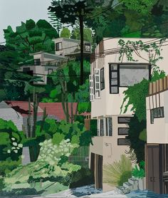Jonas Wood, 'Schindler Apts', 2013, oil and acrylic on canvas 132 x 112 in