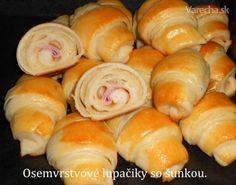 Osemvrstvové croissanty so šunkou (fotorecept) - Recept