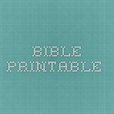 bible printable