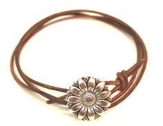triple wrap two knot leather bracelet