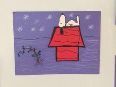 Snoopy winter scene