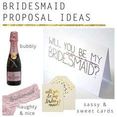 Bridesmaid proposal ideas