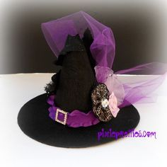 SALE - Ready To Ship - Mini Purple Witch Hat OOAK