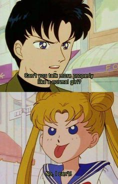 Serena and Darien in Sailor Moon Sailor Moon Quotes, Sailor Moon Funny, Arte Sailor Moon, Sailor Moon Usagi, Sailor Mars, Sailor Moon Aesthetic, Aesthetic Anime, Sailor Moon Crystal, Sailor Scouts