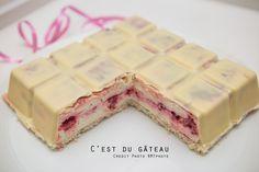 Tablette de chocolat blanc-framboise-citron vert | C'est du gâteau !
