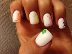 An idea I had and my nail artist did a great job! Live, Love, Laugh, Learn, Luck!