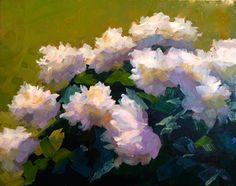 """Peonies in Brilliant Sun"" by Dennis Perrin oil on canvas 20"" x 16"" www.dennisperrinfineart.com"