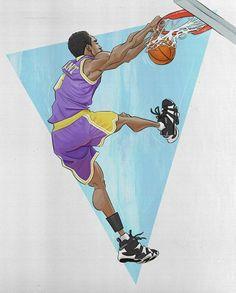 African American Artist, American Artists, Kobe Bryant Michael Jordan, Kobe Bryant Pictures, Basketball Photography, Sports Graphics, Basketball Art, Black Mamba, Sports Art