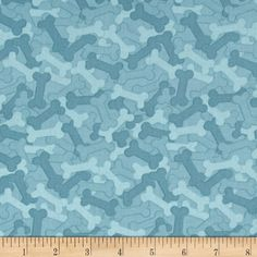It's A Dog's Life Bones Blue from @fabricdotcom  Designed by Jennifer Pugh for Wilmington Prints, this cotton print is perfect for quilting, apparel and home decor accents. Colors include shades of blue.