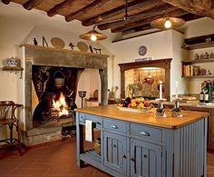 Amazing Italian Style Kitchen Decor Ideas For Inspiration 30 - Home Decor Ideas 2020 Italian Style Kitchens, Italian Kitchen Decor, Rustic Kitchen, Tuscan Kitchens, Tuscan Furniture, Kitchen Furniture, Old World Kitchens, Tiny Kitchens, Cabin Kitchens