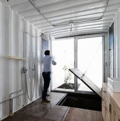 Container House - 8 Awesome Houses Built Out Of Combining Shipping Containers! - Who Else Wants Simple Step-By-Step Plans To Design And Build A Container Home From Scratch? Building A Container Home, Container Buildings, Container House Plans, Container Cabin, Shipping Container Design, Container Home Designs, Shipping Containers, Atelier Architecture, Sustainable Architecture