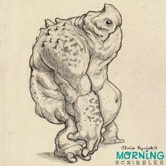 Giant Monster Friday!  #morningscribbles