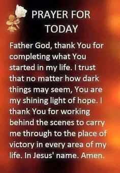 Prayer For Today! Prayer Scriptures, Bible Prayers, Faith Prayer, God Prayer, Prayer Quotes, Power Of Prayer, Bible Verses, Thank You Lord For Answered Prayers, Thankful Prayers