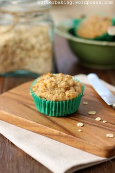 Healthy Apple, Yogurt and Oat Breakfast Muffins