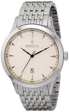 Men's Wrist Watches - Invicta Mens 12225 Vintage Analog Display Swiss Quartz Silver Watch -- Read more at the image link. (This is an Amazon affiliate link)