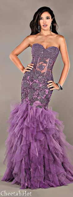 JOVANI - Pretty Purple Gown