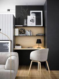 Créer un espace bureau discret dans un séjour.