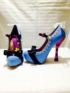 Alice in Wonderland Custom Rhinestone Heels/ by AWhimsicalHoot