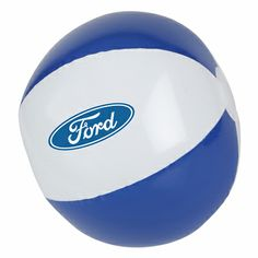 "FORD Branded Beach Ball Item #: 300902 Sale Item! $1.99 Add some bounce to our events with this beach-themed promotion. Two-tone vinyl ball ups the ante by the ocean, pool, or even at fairs and parks. Inflates to 16"". Blue/White. Screenprinted Ford Oval one panel. Cool Gifts, Best Gifts, Ford Girl, Beach Ball, Ford Motor Company, Beach Themes, Sale Items, Things That Bounce, Screen Printing"