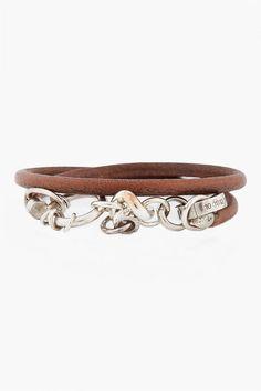 Maison Martin Margiela Silver Double Wrap Bracelet  $294