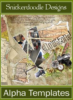 Here is a beautiful travel page by Linda. Her choice of map papers and elements along with the Alpha Template by Snickerdoodle Designs go so well with her journaling. On Sale for limited time!