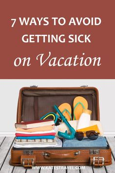 Want to avoid getting sick on vacation? Here are some tips for staying healthy when you travel so you have the best possible time away from home. #katestravel #traveltips Travel Goals, Travel Tips, Travel Destinations, Feeling Under The Weather, Cheap Tickets, Wedding Honeymoons, Beautiful Places In The World, Packing Tips, Train Travel